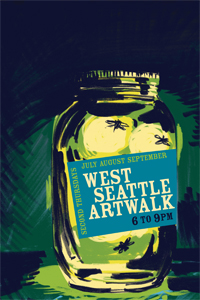 West Seattle Artwalk poster